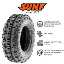 "20x11.00x8 / 20x11x8"" SUNF A-027R TYRE 6 PLY X-GRIP RACING ATV QUAD E-MARKED"